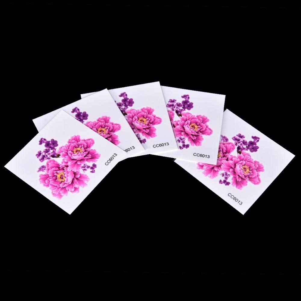 Wholesale Temporary Tattoos Stickers Flowers Foot Shoulder Tattoo 6*6cm Waterproof Lady Women Beauty On Body Art 2017 New