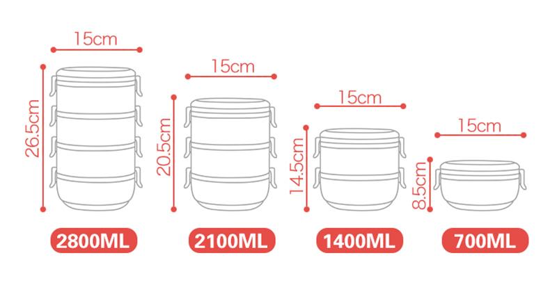 304 stainless steel Bento box 11
