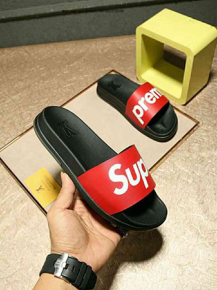 Compre Zapatillas De Hombre De Alta Calidad Pies Con Clip Estilo Flip Líneas Europeas Zapatos De Marca Sandalias De Cuero Zapatillas De Hombres A