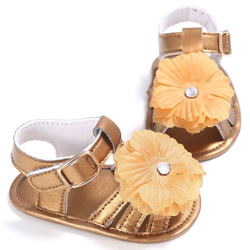 4 Color Summer Baby Shoes Toddler Girl Crib Shoes Newborn Flower Soft Sole Anti-slip First Walker NDA84L24 (8)