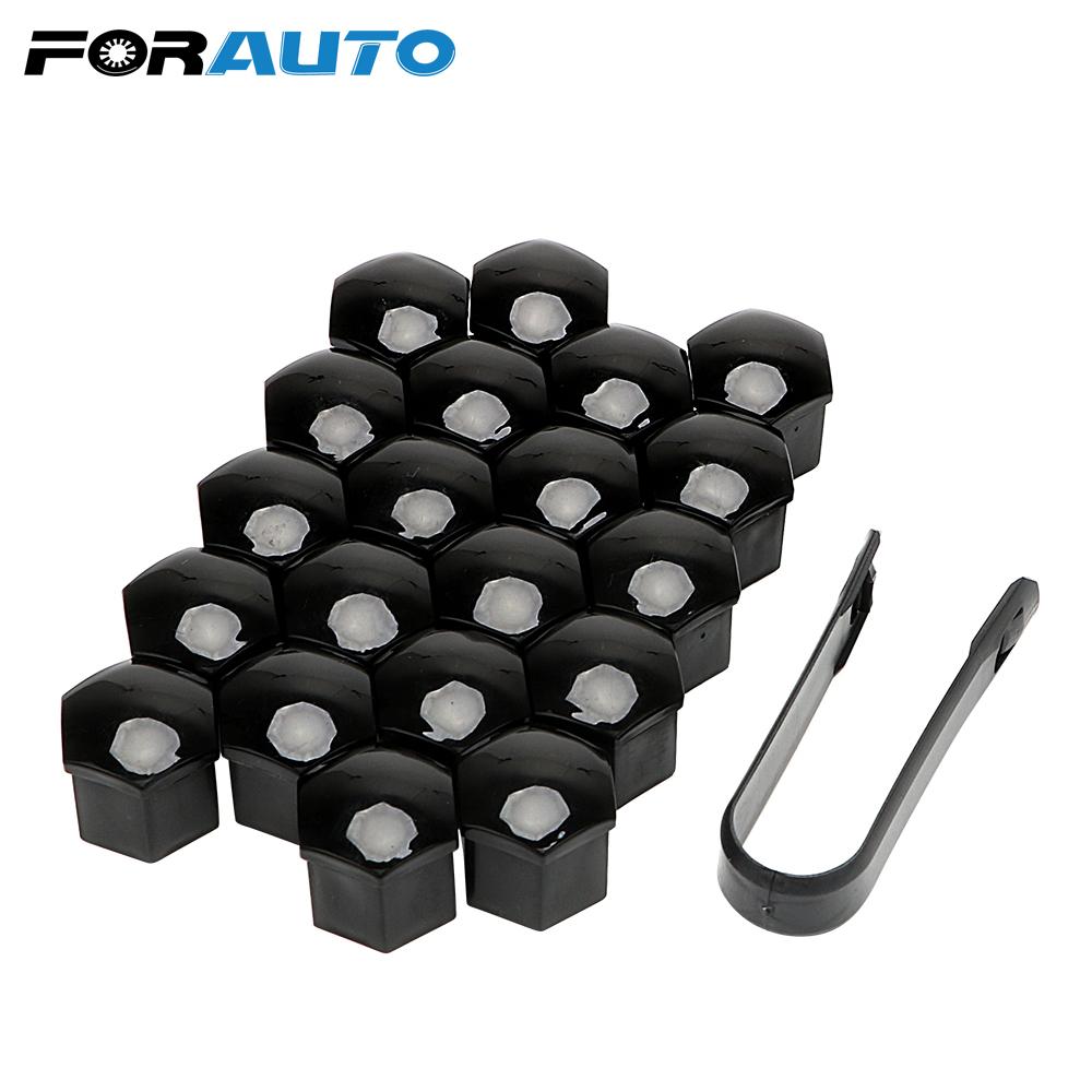 cabeza del perno de 21 mm Negro Cubre Tapas Plástico Hexagonal Protectores 20 coche tuerca de la rueda