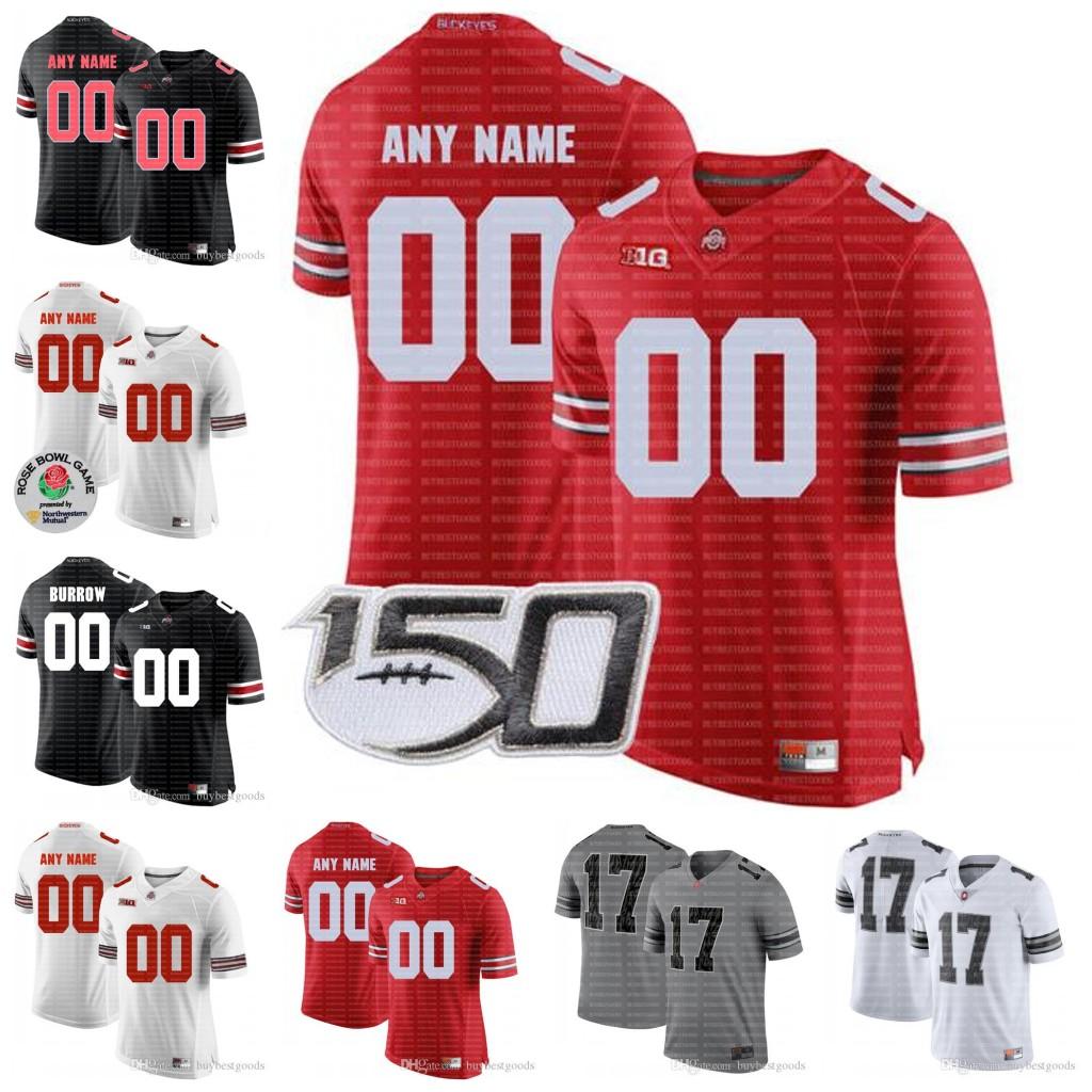 Custom Ohio State Buckeyes OSU Football Fields #9 Binjimen Victor 11 Austin Mack 1 Jeffrey Okudah Ronnie Hickman Jeremy Ruckert Any Name No.
