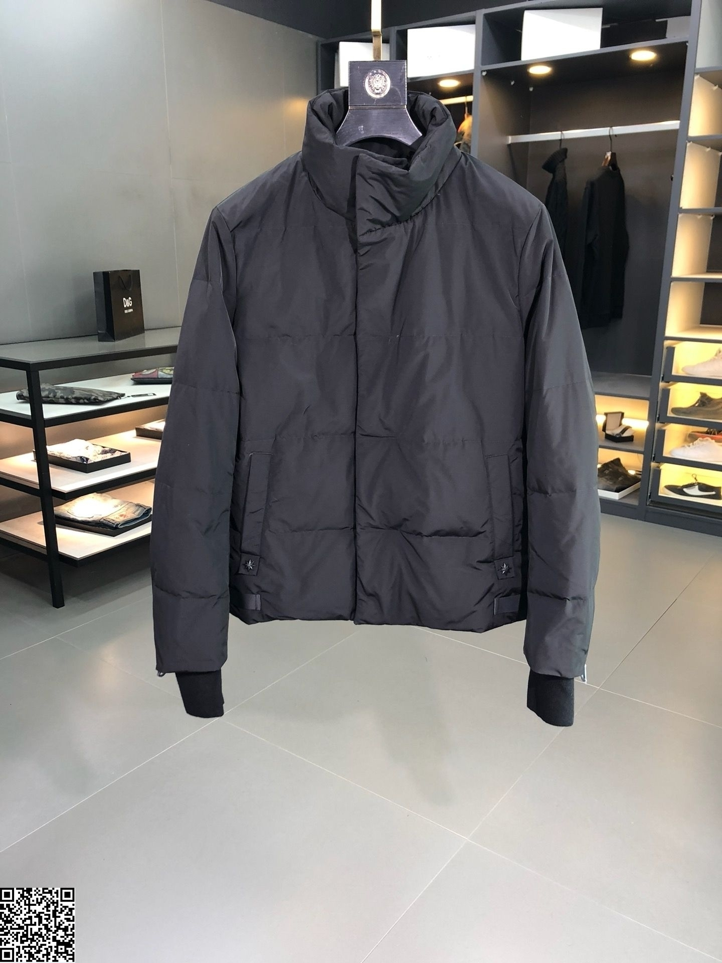 Tootless-Men Double Breasted Solid Jacket Hooded Pea Coat Loose Dust Coat
