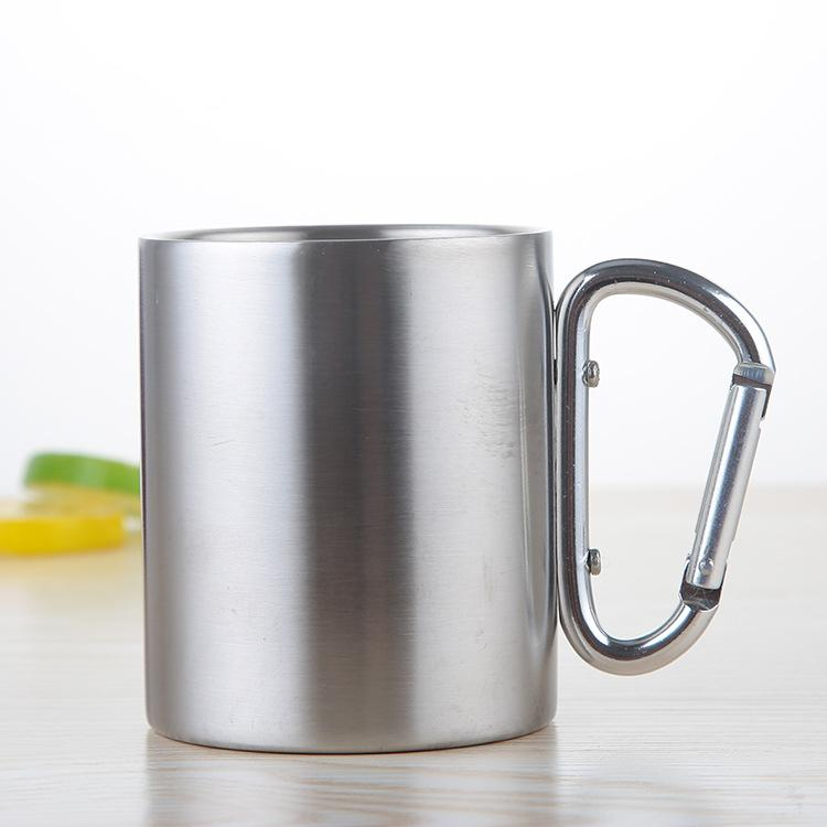 300ml Camping Coffee Tea Mug Aluminum Travel Cup Backpacking Outdoor Silver