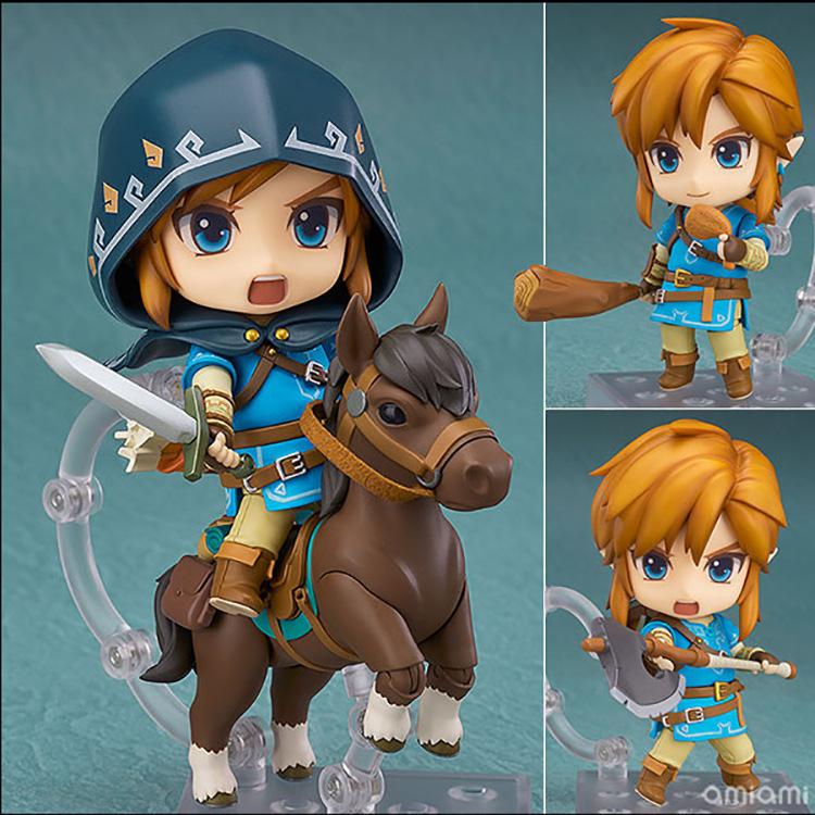 The Legend of Zelda 733-DX Nendoroid Link Zelda Figure Breath of the Wild Ver DX Edition Deluxe Version Action Figure (1)
