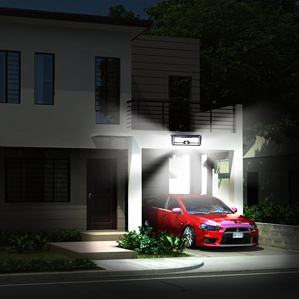 136 LED Solar Street Light For Home Garage Garden Light Solar Powered Wall Street Lamp with Motion Sensor Solar Light Waterproof (6)