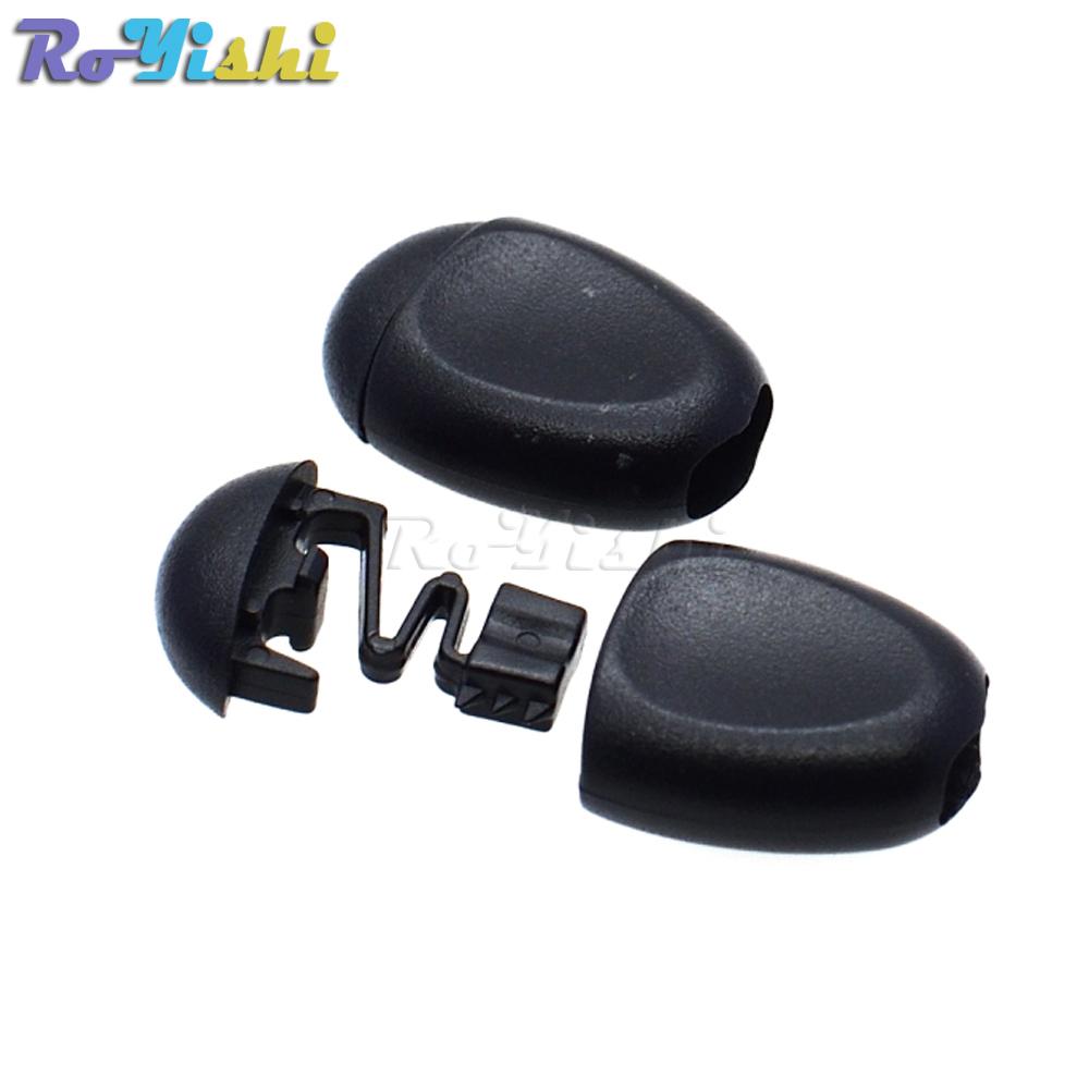 10pcs EDC noir zip tirettes Cordon Corde pour Outdoor Voyage Vêtements Sac à dos