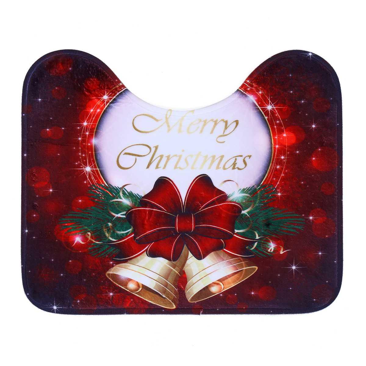 Albero di Natale della Bell bagno Mats Set Anti-Slip igienici terra Cucina Moquette Porta stuoie arredamento caldo molle dell'ammortizzatore WC copertina