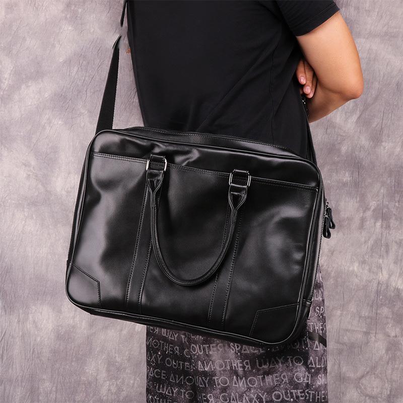 """Portable Handbag Shoulder Laptop Notebook Bag Case for 15/"""" Computer PC Black ZH"""