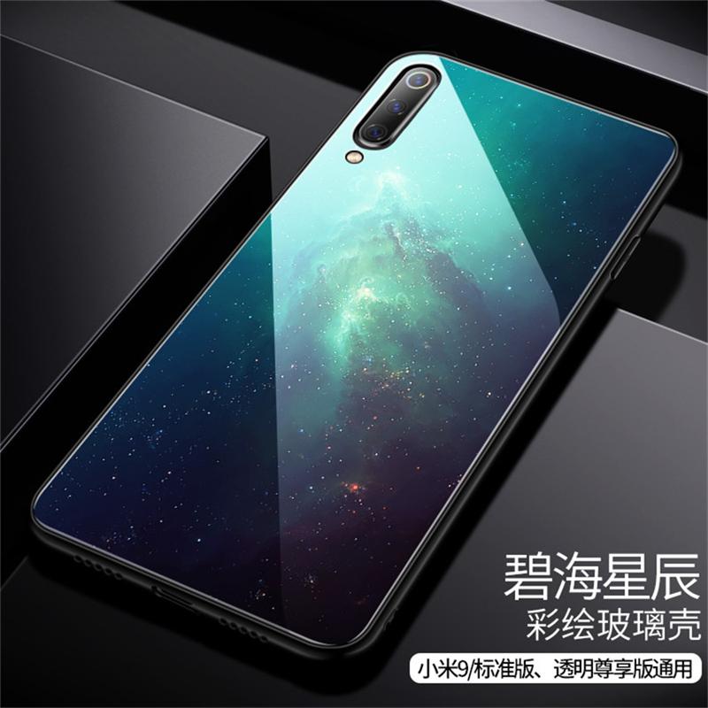 Aixuan Glass Case For Xiaomi mi 9 Mi9 Explorer Xiaomi mi 9 SE Case painted Tempered Glass Silicon Protective full Cover Cases (14)