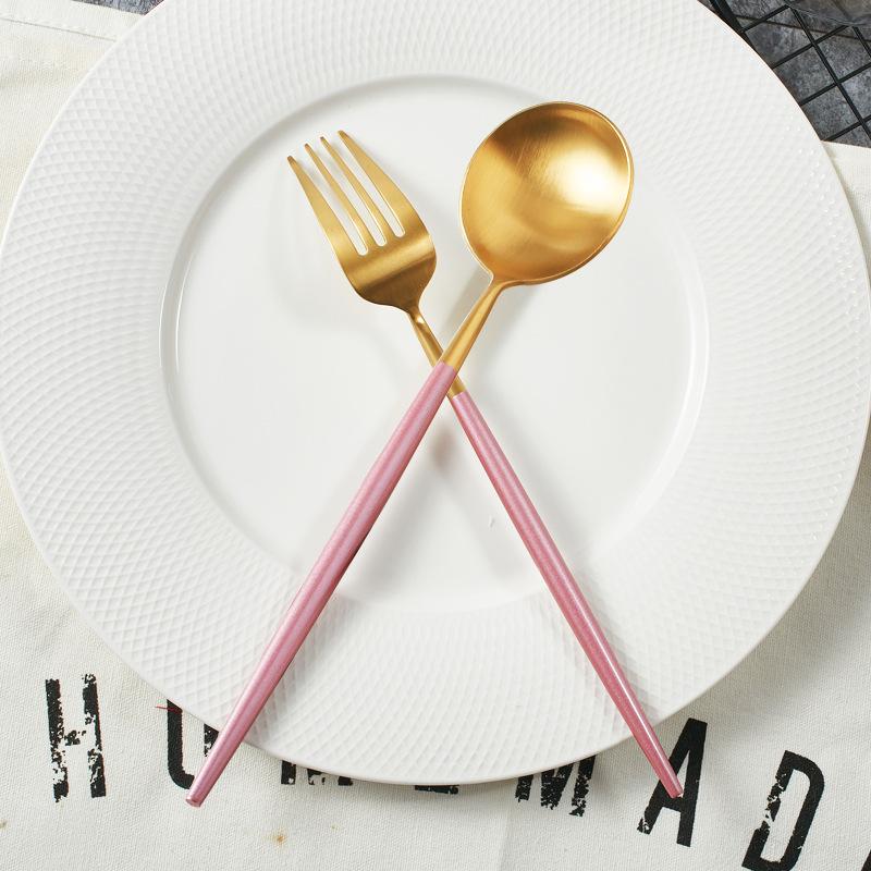 Pink Gold Dinnerware set (2)