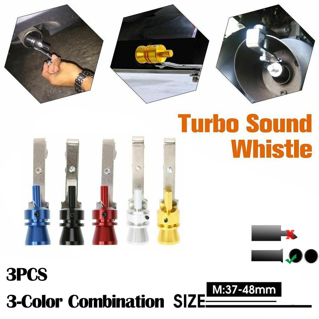 Argent/é Turbo Sifflement Sound Whistle Tuyau D/échappement Simulateur Valve de Soupape S
