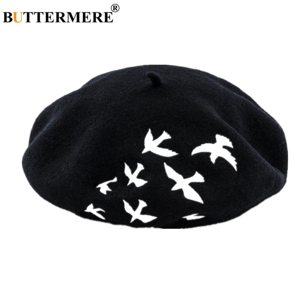 Butterme Womens Ladies Girls Fashion French Sweet Flowers Bucket Wool Felt Beret Beanie Pillbox Wedding Bowler Hat Cap