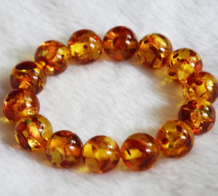Rare Natural yellow tiger-eye carved dragon lovers gift  huge 10-16mm bracelet
