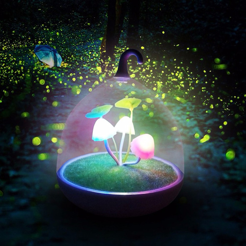 Mushroom Colorful Night Lights Touch Led Sensor Table Lamps Home Decoration Novelty Christmas Romantic Holiday Birthday Gifts