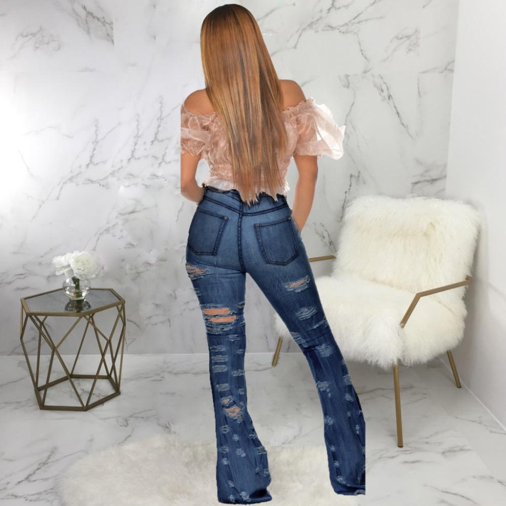 New Design fashion women Blue Color Jean Boot Cut Pants Casual Street Lady Long Denim Pants Sexy Club Wide Leg Jeans (11)