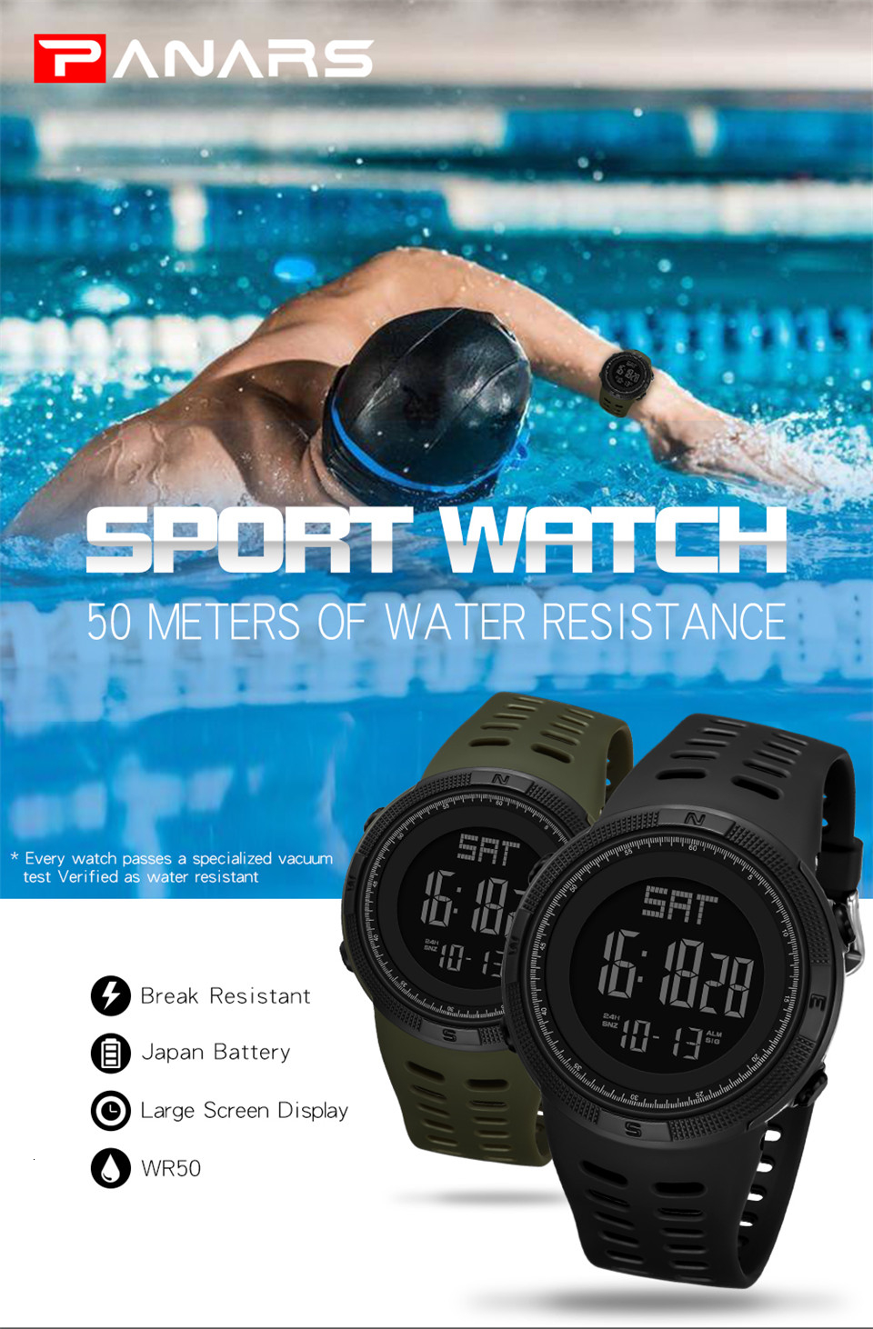 Sports Watch Men Digital Electronic Wrist Watch Waterproof LED Fitness Outdoor Watch For Running Chronograph Wristwatch Relojes (1)