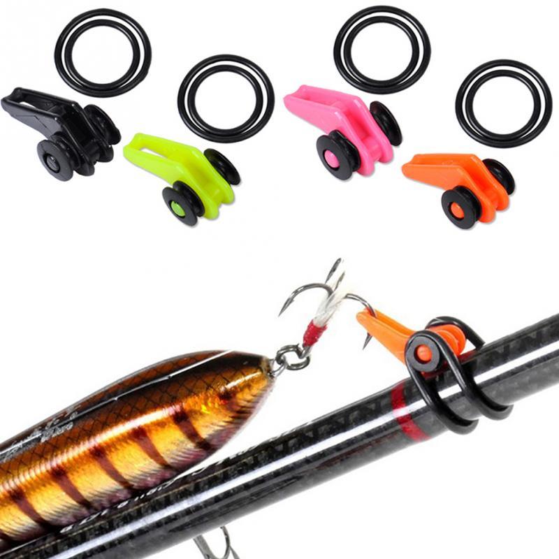 10Pcs Fishing Hook Holder Fishing Rod Pole Fishing Lures Bait Mini Hook Keeper
