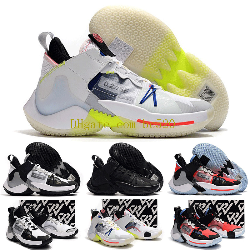 2019 Hommes Russell Westbrook Pourquoi pas Zero.2 II Elite SE Chaussures de basketball Houston Rockets Zero 2 0.2 PF Luxury Sneakers zer0.2 Baskets
