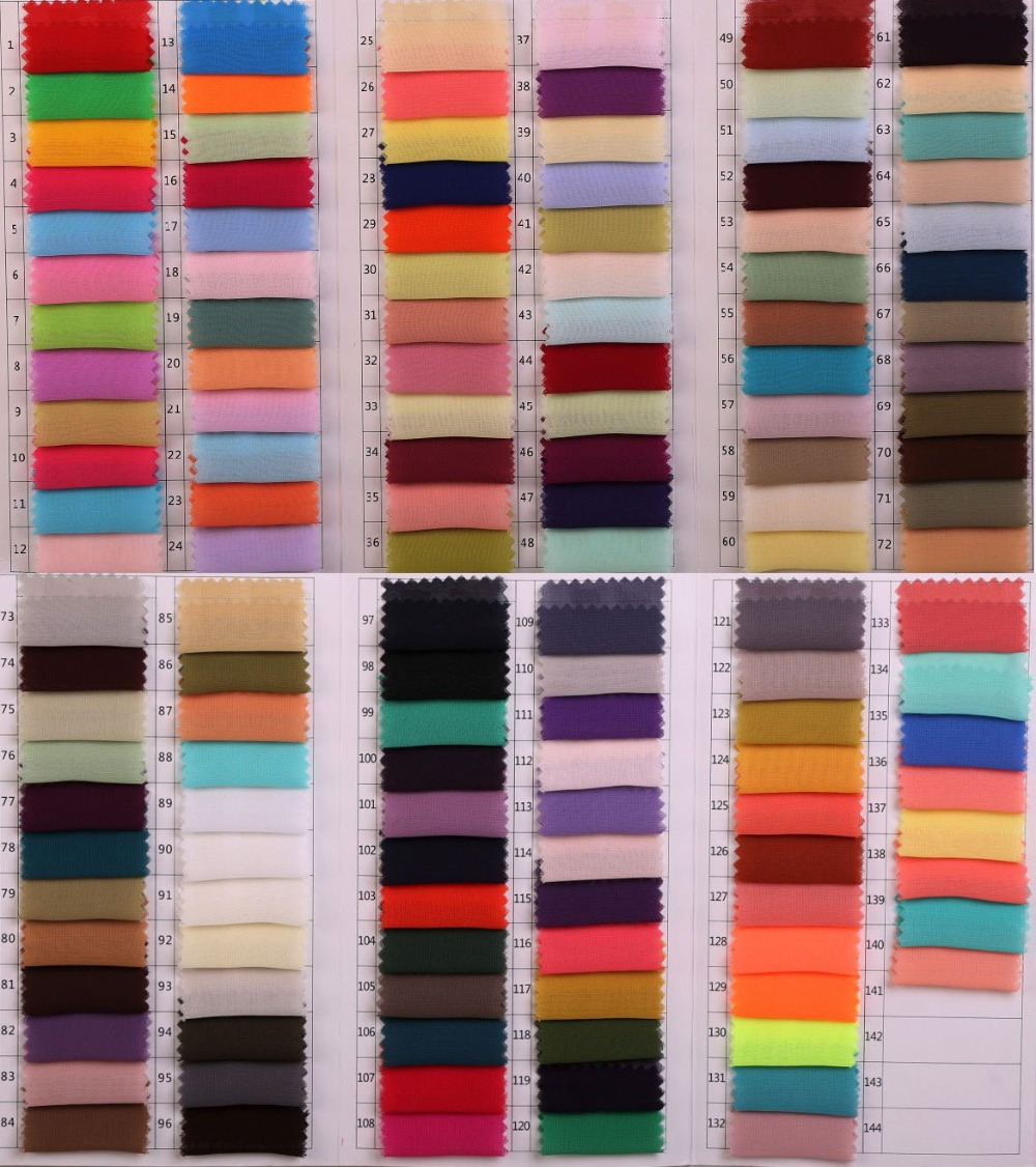 Z Color Chart Of Chiffon