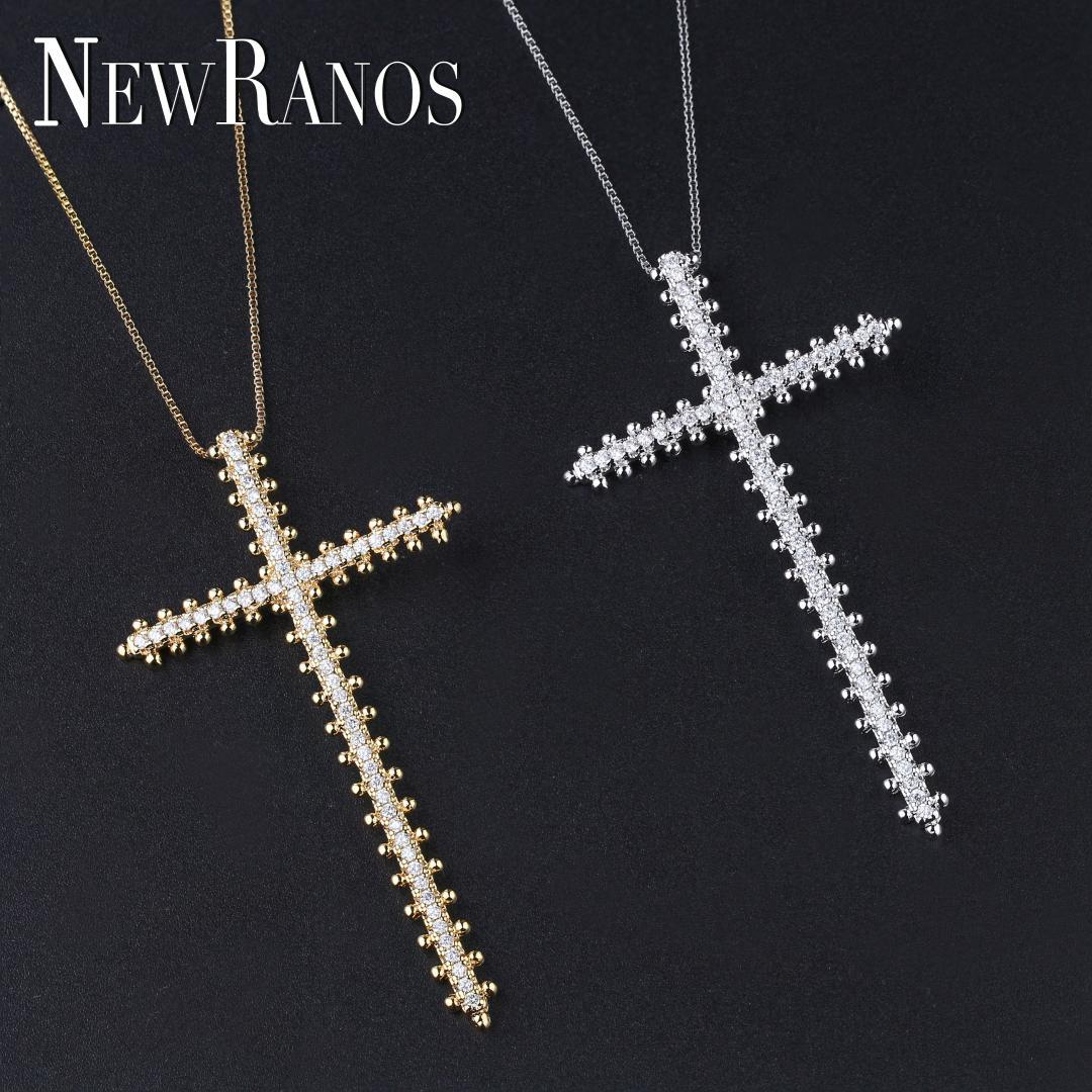 Modeschmuck Rosenkreuz Anhänger Kreuz mit Rose Halskette antik silber Schmuck
