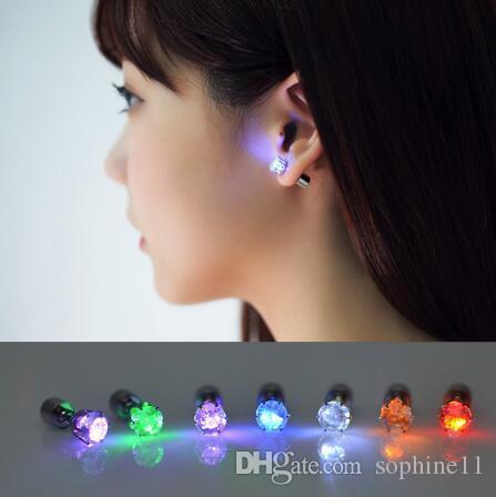 Parpadeante Estrella colorida Led Pendientes ligeros Aretes joyería Earrings
