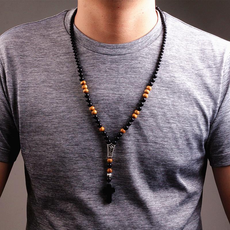 collier bois pour homme