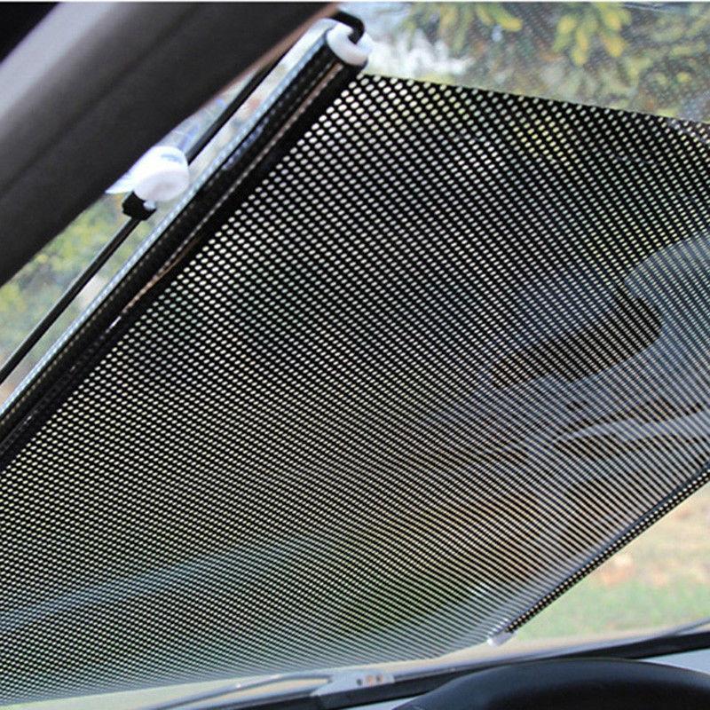 Car Retractable Windshield Sun Shade Visor Folding Auto Block Cover Front Window Clear View Visor 68*125cm