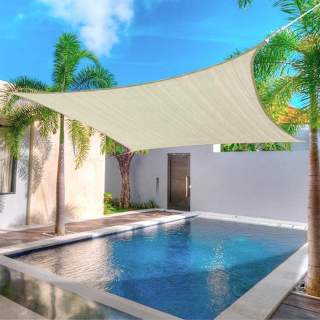 Voile D Ombrage Imperméable 2x2 3x3 4x4 5x5 carrés en plein air imperméable sunproof mesh net sun shade  sail protection uv auvent parasol net yard jardin randonnée