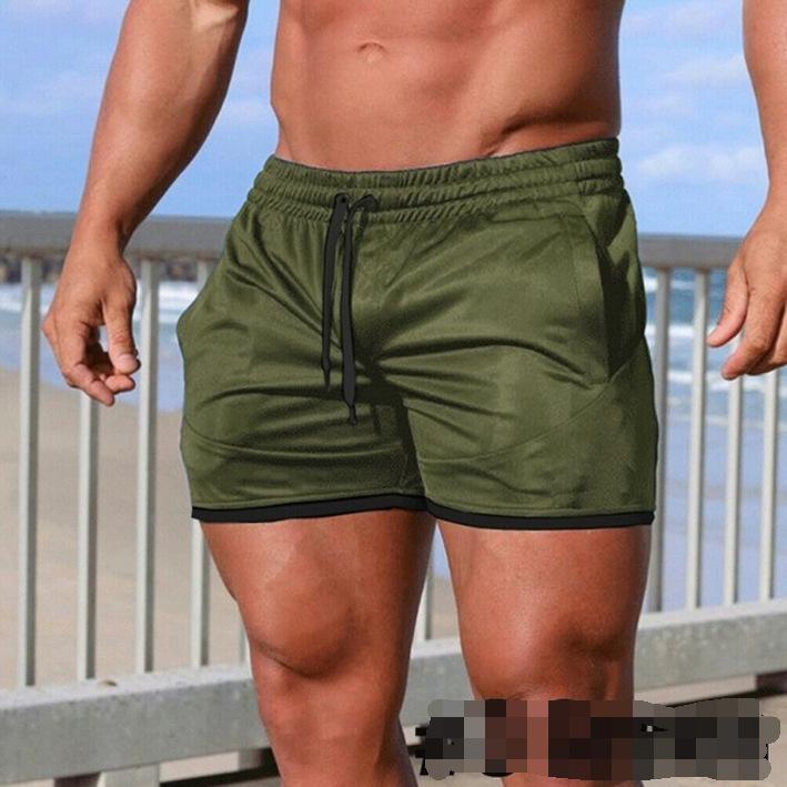 Yaz eğlence yeni erkek saf pamuk şort giymek gençlik moda orta bel erkek plaj pantolon