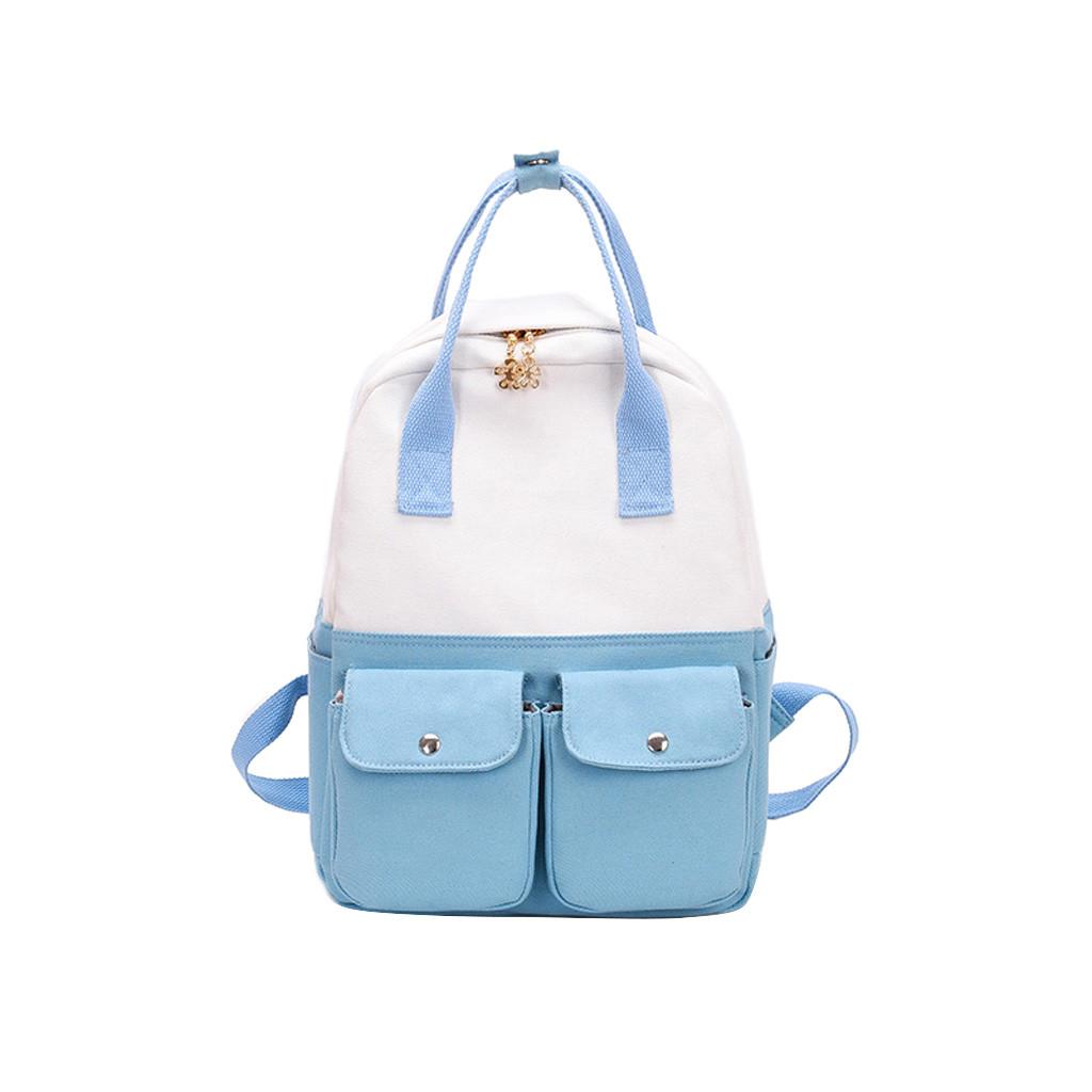 Moda Feminina Cor Da Lona Patchwork Capacidade de Capacidade Mochila de Viagem Dos Homens Saco de Casal mochila feminina mochila escolares # 40