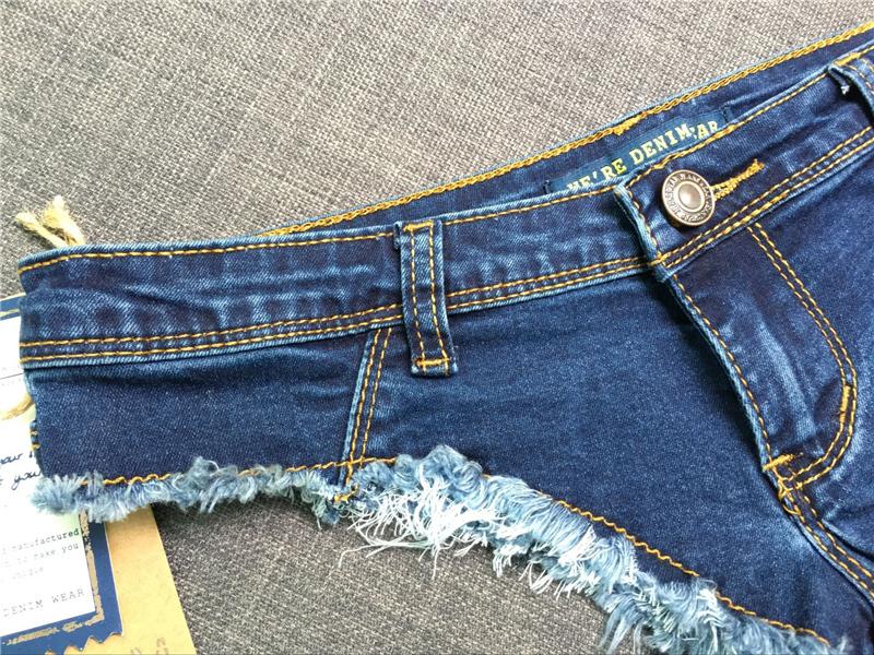 Logami Shorts Micro Sexy Hot Mini Denim Shorts Women Low Waist Summer Jeans Short Feminino 2017 Y19042601