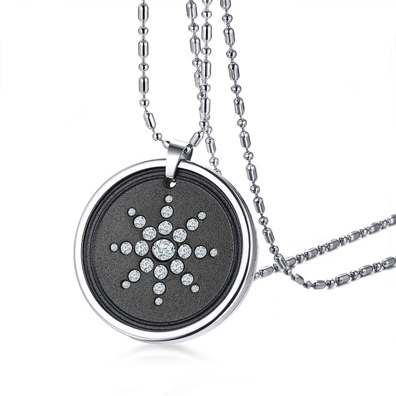 Quantum scalaire énergie Tag japonais bio Science Lava rayonnement collier pendentif