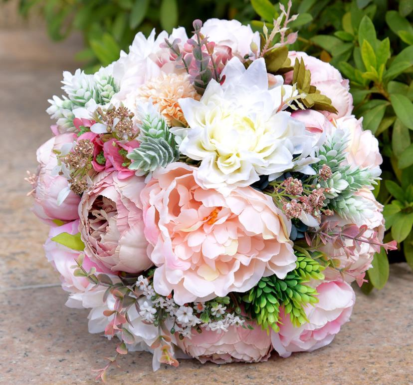 Artificial Bridal Wedding Bouquets For Brides Outside Wedding