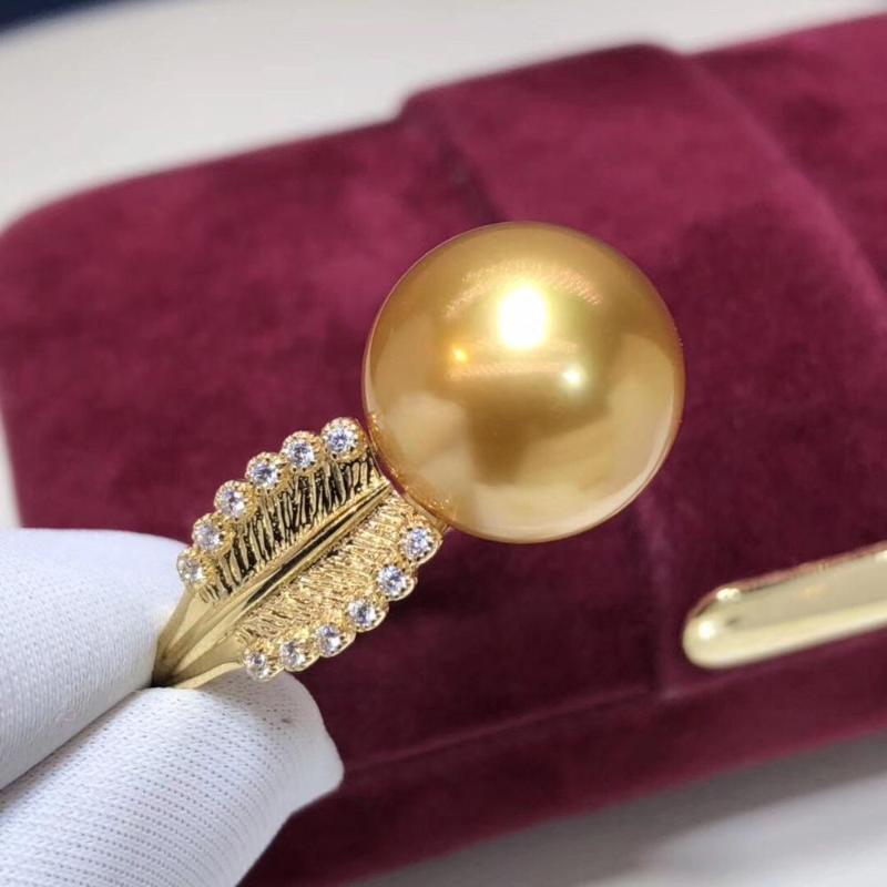 Placage 18K Golden Chrysanthème Tournesol séparation des couleurs fleur anneau cadeau