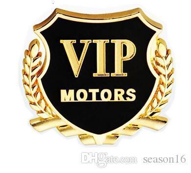 DIY Unique VIP Auto Front Hood Ornament Bonnet Emblems Decor Metal Alloy Sliver