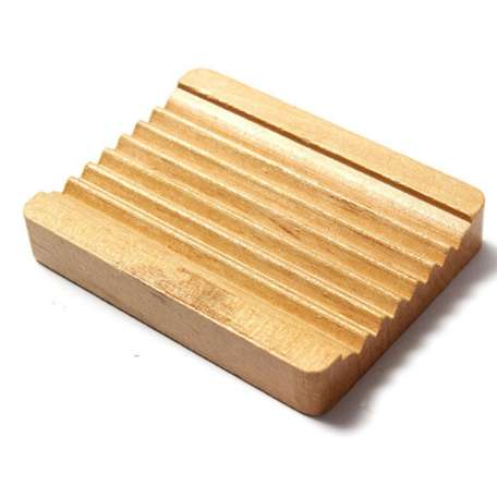 Wood Soap plateau support plat stockage bain douche plaque salle de bain laver W