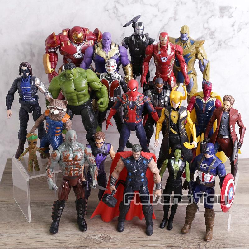 Maravilha Vingadores 3 Filme de Guerra Infinito Anime Super Heros Capitão América Ironman Homem Aranha Hulk Thor Superhero Action Figure Toy Q190429