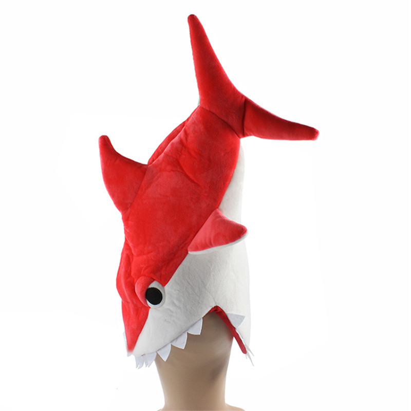 Halloween-funny-originality-Aquarium-shark-piranha-fish-hat-plush-toy-Stuffed-Plush-Cap-Cosplay-Hat-for (2)
