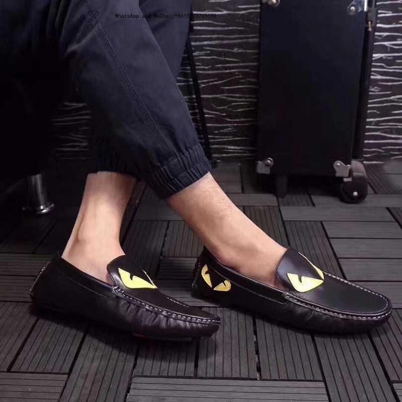 2019 Printemps Marque Hommes Chaussures Habillées Retour Au Mâle Oxford Flats Us Taille