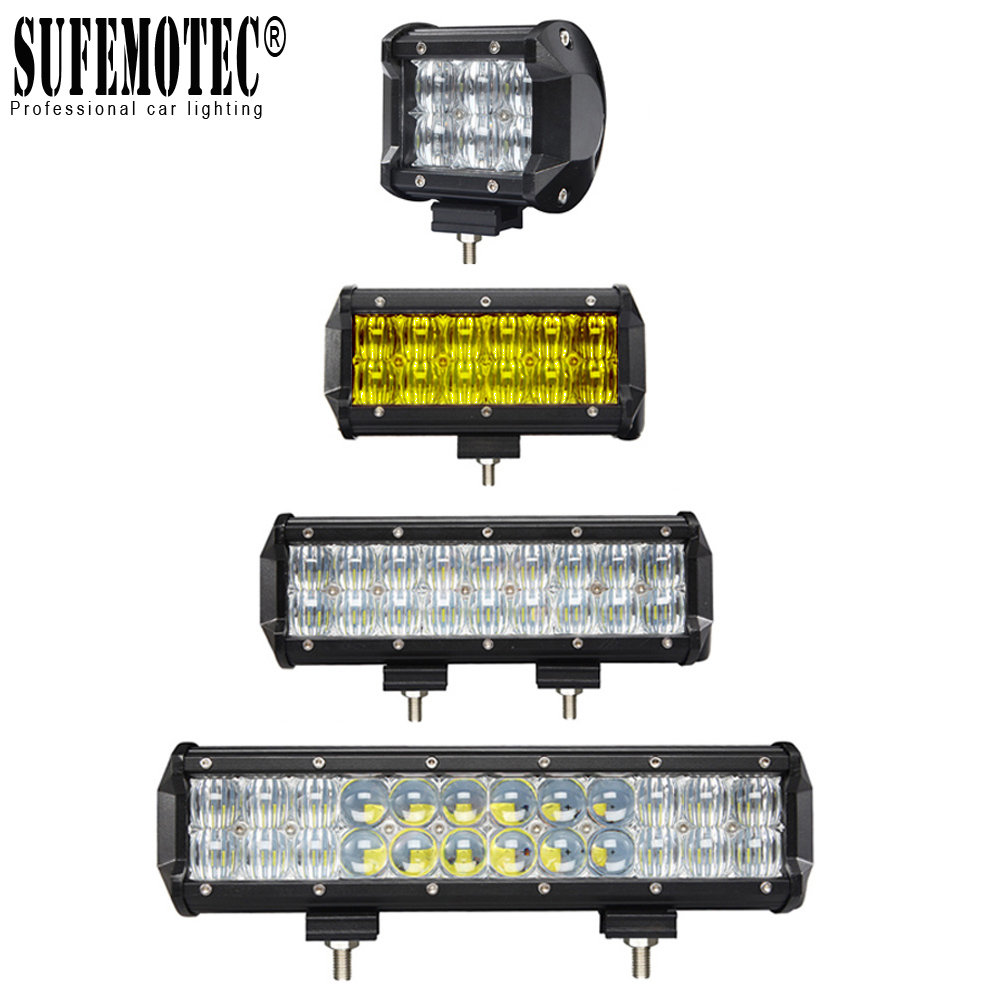 "Osram 12/"" 5D 240W LED Work Light Bar Flood Spot Combo Offroad SUV Driving Lamp"