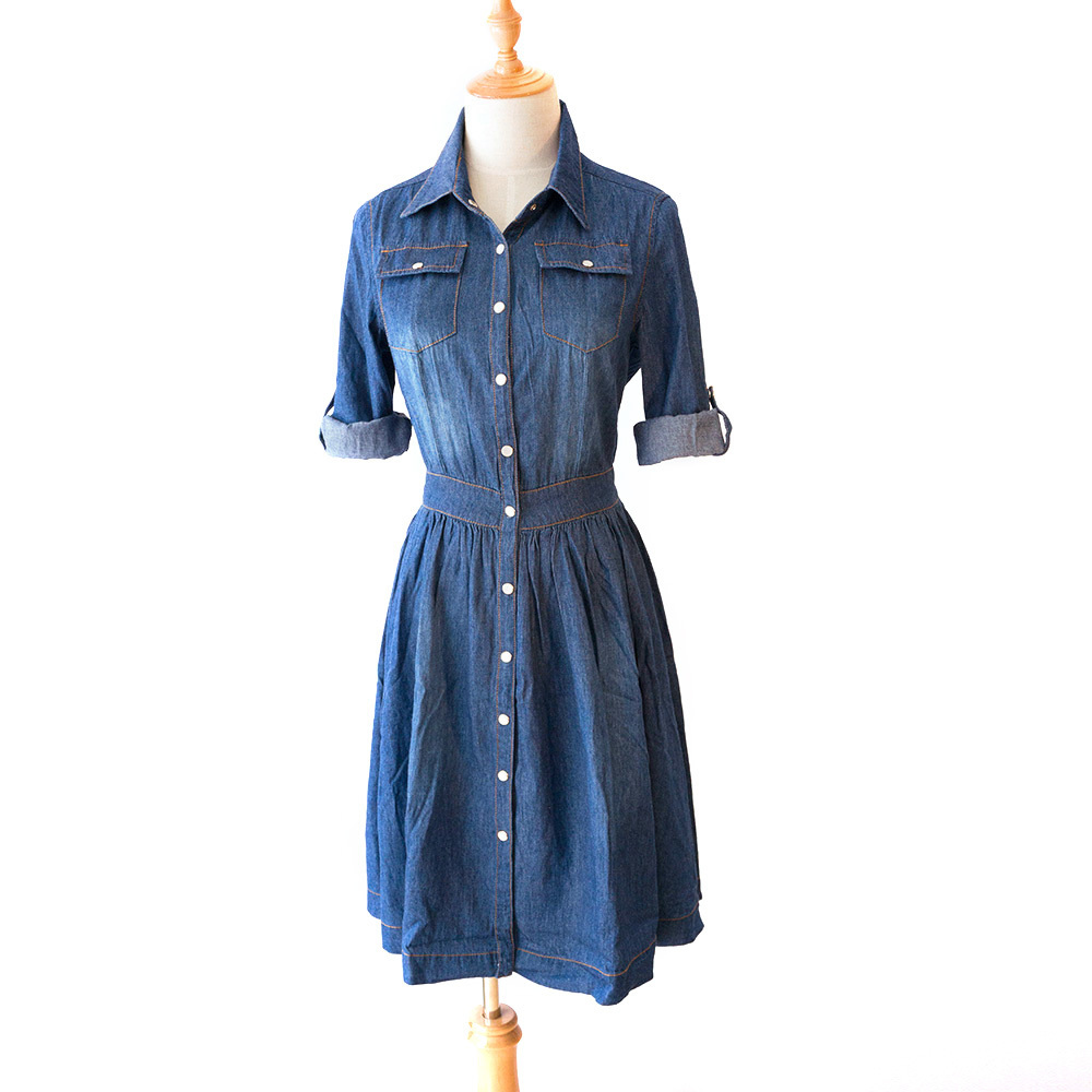 high-quality-autumn-denim-dress-clothing-plus-size-women-Jeans-dress-elegant-spring-slim-cowboy-casual