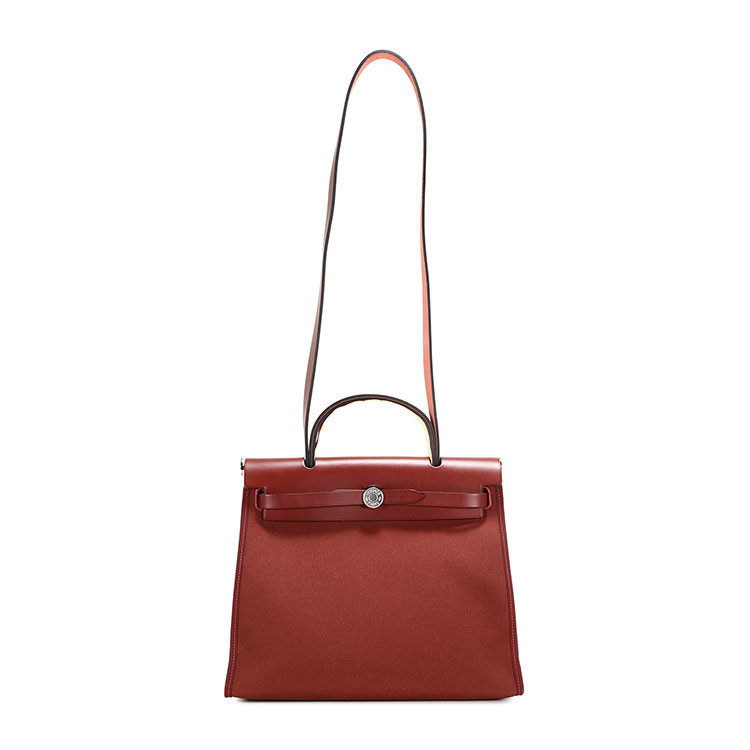 / ladies pomegranate red canvas/with leather dual-use bag herbag31