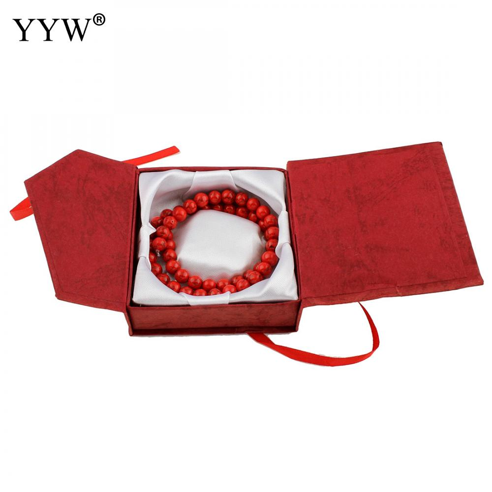 Box jewelry holder necklace fashion women container display package earring bracelet ring storage case gift cardboard