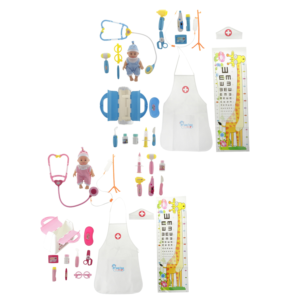 Kids Toys Simulation Baby Doll Doctor Toys Pretend Play Medical Set with Stethoscopes For Baby Doll Doctor Role Play Playsets