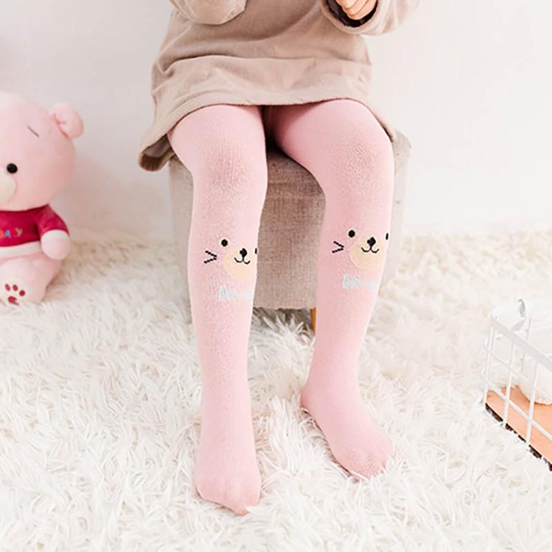 Collants Cartoon pièce Chaussettes siamois Collants pour bébé filles enfant simple