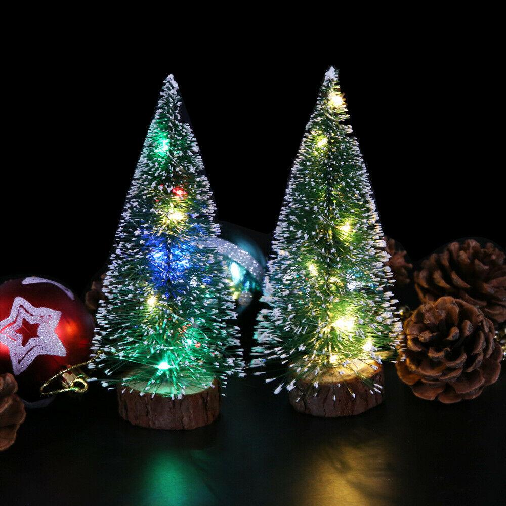 Petite Sapin de Noël Artificiel 50cm avec Lumière LED pour Noël Décor Ornements