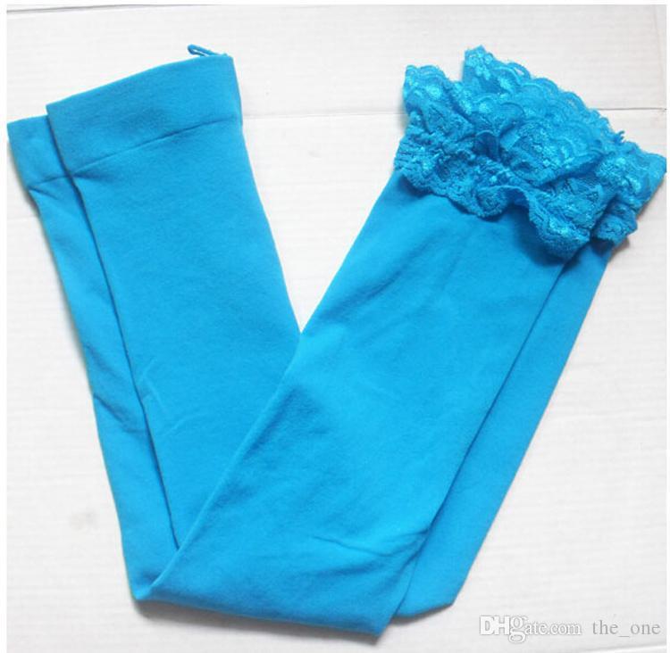 kids baby girls velvet candy color leggings summer girls lace leggings children Cropped Pants in stock