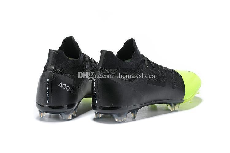 Superfly Mercurial Greenspeed Nuevo GS 360 Elite FG GS360 Verde velocidad CR7 para hombre Zapatos de fútbol de fútbol botas de fútbol Cleats tamaño 39-45