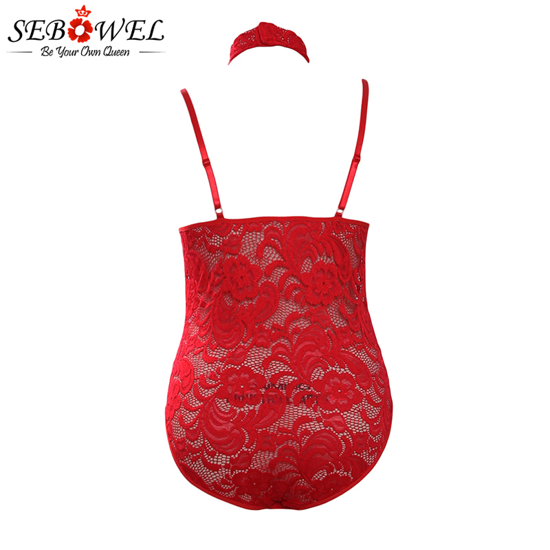 Hot-Red-Sheer-Lace-Choker-Neck-Teddy-Lingerie-LC32139-103-4